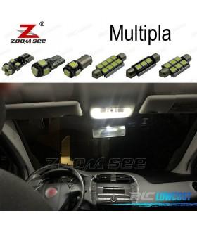 Kit completo de 7 bombillas LED interior para 1999-2010 Fiat Multipla