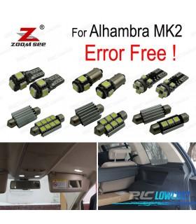 Kit completo de 21 bombillas LED interior para Alhambra II MK2 710, 711 (2011-2017)