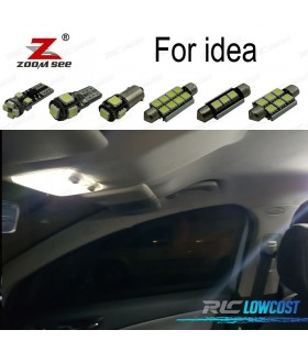 Kit completo de 9 bombillas LED interior para 2003-2012 Fiat