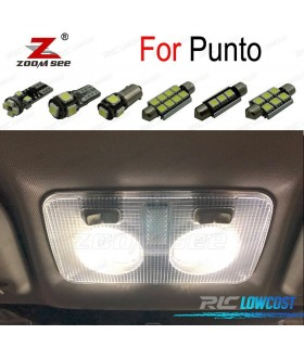 Kit completo de 10 bombillas LED interior para 2000-2017 Fiat 188 199