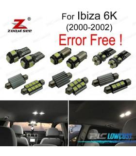 Kit completo de 7 bombillas LED interior para Ibiza 3 Mk III 6 k (2000-2002)