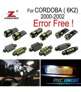 Kit completo de 7 bombillas LED interior para Cordoba 6K2 (2000-2002)