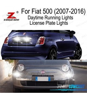 Kit completo de 6 bombillas LED interior para Fiat 500 solo Easy Lounge Pop Sport Trekking Turbo (2007-2016)
