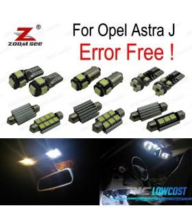 Kit completo de 9 bombillas LED interior para Opel Astra J Vauxhall OPC GTC Sports Tourer Hatchback (2009-2015)
