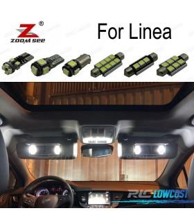 Kit completo de 11 bombillas LED interior para 2007-2014 Fiat linea