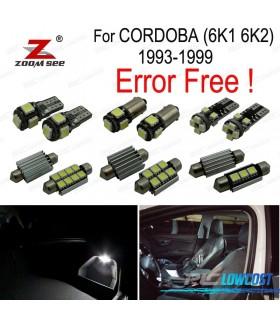 Kit completo de 7 bombillas LED interior para accesorios de Seat Córdoba 6 k 1 6K2 (1993-1999)