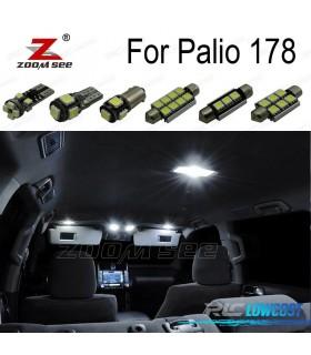 Kit completo de 7 bombillas LED interior para 2002-2011 Fiat Palio 178