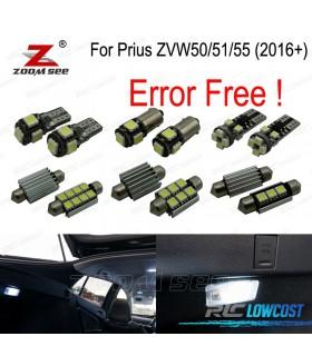 Kit completo de 14 bombillas LED interior para Toyota Prius ZVW50 ZVW51 ZVW55 (2016 +)