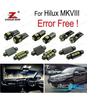 Kit completo de 3 bombillas LED interior para Toyota Hilux MK8 MKVIII (2015 +)