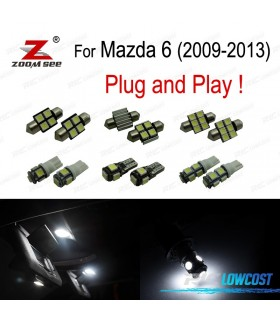 Kit completo de 7 bombillas LED interior para Mazda 6 (2009- 2013)