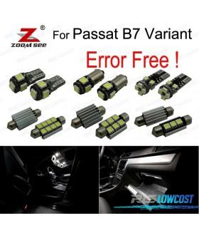 Kit completo de 18 bombillas LED interior para Volkswagen Passat B7 (365) (2011-2014)