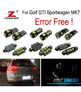 Kit completo de 14 bombillas LED interior para VW Golf 7 MK7 MKVII Golf GTI sportwagen (2014 +)