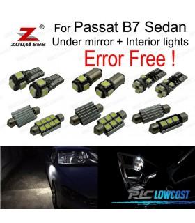 Kit completo de 18 bombillas LED interior para Passat B7 sedán Salón (2012-2015)