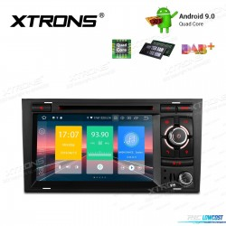 """RADIO NAVEGADOR 7"""" ANDROID 9.0 STERIO MULTIMEDIA DVD PARA SEAT A4,S4,RS4"""