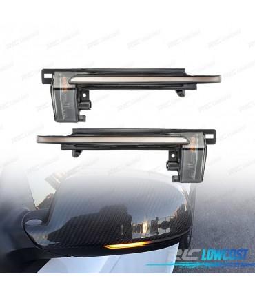 color negro Intermitentes LED din/ámicos laterales compatibles con A3 8P A4 B6 B7 y Cabrio C6 4F